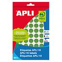 035289 S/ETIQUET. ADHES. VERDE 13mm APLI 10 R.2737